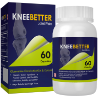 KneeBetter Blend Of Glucosamine, Chondroitin, MSM And Curcumin Joint Support 60 Capsules