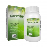 SaggyGo Green Coffee Beans Extract 800mg 60 Capsules