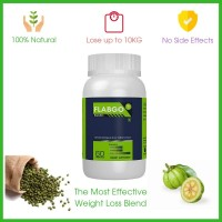 FlabGo Garcinia Cambogia & Green Coffee Extract  100% Veg Fatburner 60 Capsules No Side Effects With Money Back Guarantee Lose Upto 10 KG Of Weight