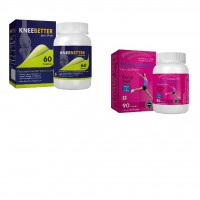 WomensMulti Womens Mutivitamin & KneeBetter Joint Support Combo For Women Health
