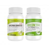 Maxgars Green Tea Fat Burner And Garcinia Cambogia Extract With 60% Hca 60 Capsules