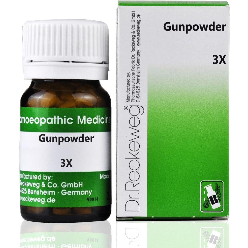 Buy Dr  Reckeweg Gunpowder 3X (20g) | ShopHealthy in