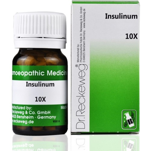 Dr. Reckeweg Insulinum 10X (20g) : An active Principle from the Pancreas which affects Sugar Metabolism, Maintain Blood Sugar