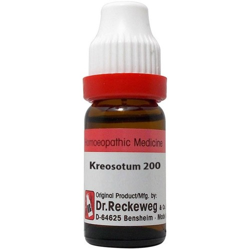 Dr. Reckeweg Kreosotum 200 CH (11ml) : Easy bleeding from wounds, bed wetting, teething, gum pain, back pain