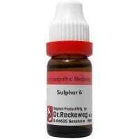 Dr. Reckeweg Sulphur 6 CH (11ml) : Relieves Burning, Cramps, Injuries, varicose Veins, Enlarged Glands
