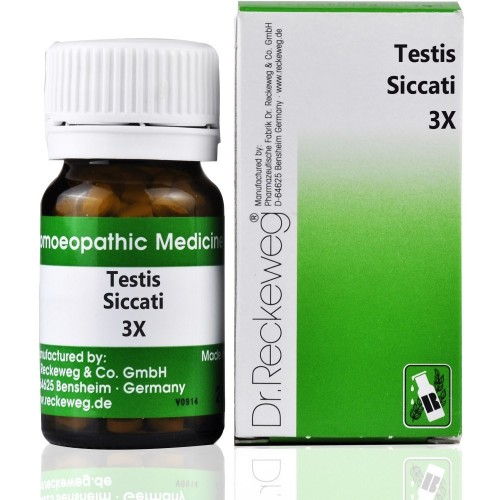 Dr. Reckeweg Testis Siccati 3X (20g) : Homeopathic Testosterone Acts well in Erectile Dysfunction and Semen Improvement