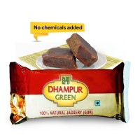 Dhampur Green Jaggery (Gur) 220gm Pack Of 4