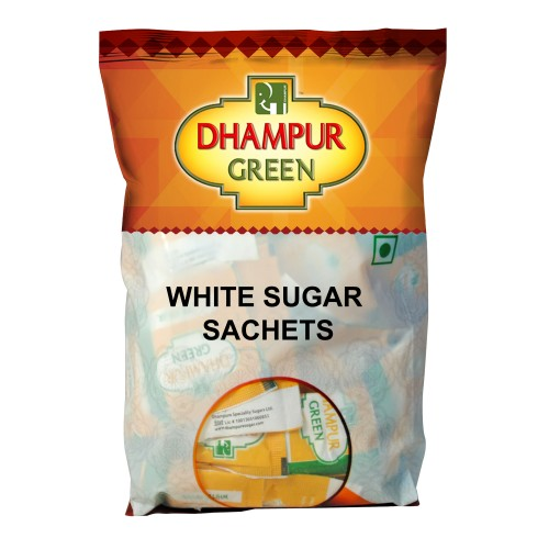 Dhampur Green White Sugar Sachets 500gm