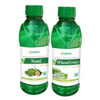 Madren Healthcare Noni & Wheat Grass Juice 500 Ml (combo Pack)