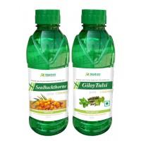 Madren Healthcare Seabuckthrone & Giloy Tulsi Juice 500ml (combo Pack)