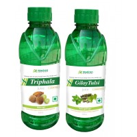 Madren Healthcare Triphala & Giloy Tulsi Juice 500 Ml (combo Pack)