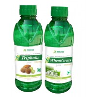 Madren Healthcare Triphala & Wheat Grass Juice 500 Ml (combo Pack)