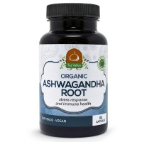 Organic Ashwagandha Root - Stress Response and Immune Health Supplement - 515MG Per Serving - 90 Vegan Capsules - 100% Natural and Made in The USA