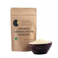 Carmel Organics Organic Ashwagandha Powder Helps Vitality And Stress-free Living (100gm)