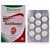 Dr. Bhargava Kidflame Tablets (30tab)-For Kidney Calculus, Painful, Burning Urination, Corrects Uric Acid