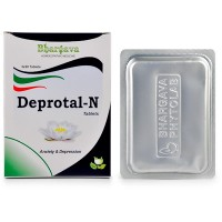 Dr. Bhargava Deprotal - N Tablets (60tab)-Helps in Sleeplessness due to Stress, Relieve Anxiety, Nervousness