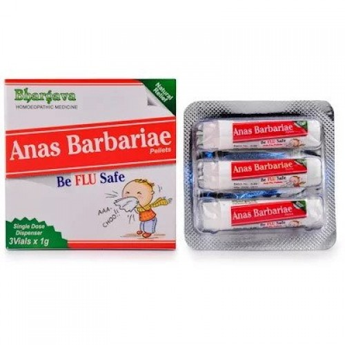 Dr. Bhargava Anas Barbariae Pills (3g)-Lowers Mild to High Temperature, Body Ache, Headache, Allergy