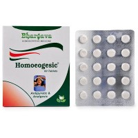 Dr. Bhargava Homoeogesic Tablets (60tab)-For Mild to High Temperature, Sweating, Body Pain, Weakness