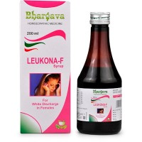 Dr. Bhargava Leukona F Syrup (200ml)-Helps Regulate Menses, scanty/profuse, Relieves pain,cramps in menses