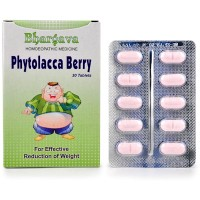 Dr. Bhargava Phytolacca Berry Tablets (30tab)-Helps in Reducing excess Weight, Post Natal Weight Gain