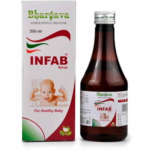 Dr. Bhargava Infab Syrup (200ml)-For Teething Troubles, Indigestion, Flatulence, Builds Appetite