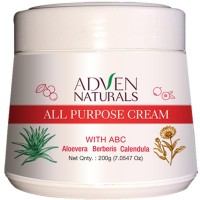 Adven All Purpose Cream with Aloe Vera, Berberis, Calendula (200g) : Keeps Skin Soft and Hydrated, Heal Sun Burns, Control Acne and Pimples