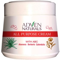 Adven All Purpose Cream with Aloe Vera, Berberis, Calendula (50g) : Keeps Skin Soft and Hydrated, Heal Sun Burns, Control Acne and Pimples
