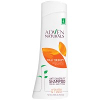 Adven Folli Therapy Anti Dandruff Shampoo (200ml) : With Neem & Tulsi, For Dry and Itchy Scalp, Dandruff, Nourishes and Strengthen Hair Roots