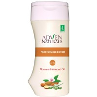 Adven Moisturizing Lotion with Aloe Vera, Almond Oil (200ml) : Moisturizes and Hydrates Skin, Makes Skin Soft, Supple and Rejuvenated