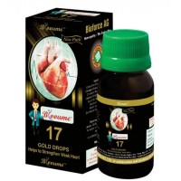 Bioforce Blooume 17 Heart Care Gold Drops (30ml) : For Palpitation, Chest Pain, irregular pulse & heartbeat, Heart Tonic