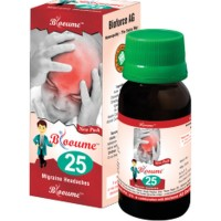 Bioforce Blooume 25 (Migrainosan) Drops (30ml) : For Headache Due to Stress, worry, Relieves Anxiety, Sleeplessness