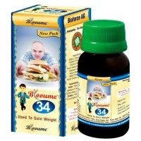 Bioforce Blooume 34 (Weightosan) Drops (30ml) : Helps to Gain Weight, Improve Appetite, Regain Body Mass