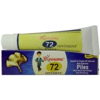 Bioforce Blooume 72 Piles Salbe (20g) : Relieves Pain, Itching, Bleeding of Piles, Internal & External
