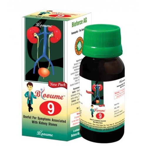 Bioforce Blooume 9 Cystosan Drops (30ml) : For Pain of Renal Calculi, Arrests Formation of Calculus, Uric Acid