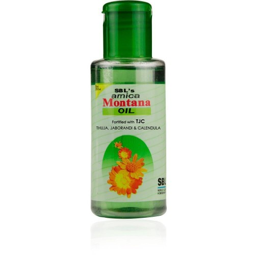 SBL Arnica Montana Hair Oil (200ml) : Falling of Hair, Premature Greying, Dandruff, Strengthens Root of Hairs