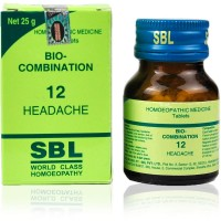 SBL Bio Combination 12 (25g) : Headache after exposure to sun, Migraine, Sleeplessness, Worry, Sleeplessness