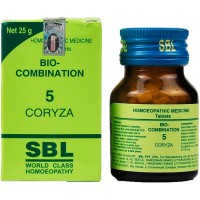 SBL Bio Combination 5 (25g) : Coryza (Thick Nasal Discharge), Sinusitis, Sneezing, Nasal Blockage