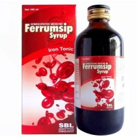 SBL Ferrumsip Syrup (500ml) : Useful in Anemia, Iron Deficiency, Weakness, Tiredness