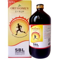 SBL Orthomuv Syrup (500ml) : Useful for Muscles, Joint Pain, Injuries to Tendons, Cramps, Back, knee pain