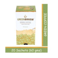 Greenbrrew Green Coffee For Weight Loss (Natural Flavor) - 20 Sachets, Each 3g