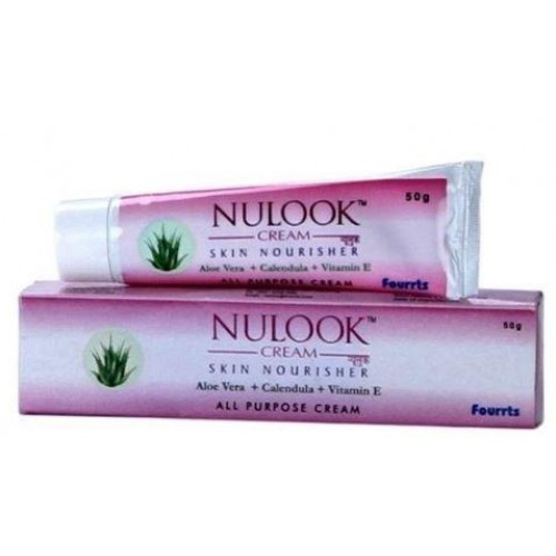 Fourrts Nulook Cream 50gm For Acne, Sun Burn, Black Patches, Blemishes & Dark Circles