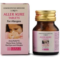 Lords Aller Cure Tablets (25g) : Used in Running Nose, Sneezing, Watery Eyes, Sinusitis, Nasal Allergy