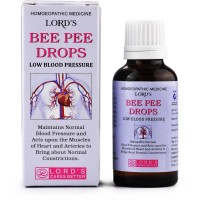 Lords Bee Pee Drops (Low Bp) (30ml) : Regulates the Pressure, Low Pulse, Relieves Vertigo, Dull Headaches