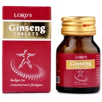 Lords Ginseng Tablets (25g) : Maintain Health, Boost Immunity, Enhances Energy, Stamina, Improves Appetite