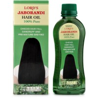 Lords Jaborandi Hair Oil (200ml) : For Hair Loss, Dandruff, Premature Graying, strengthen Hair Roots.