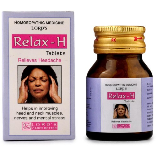 Lords Relax H Tablets (25g) : Used in Sleeplessness, anxiety, restlessness, Headache