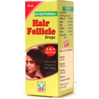 Biohome Hair Follicle Drops (30ml) : Reduces Hair Fall, Itching & Irritation of Scalp, Dandruff & Premature Graying