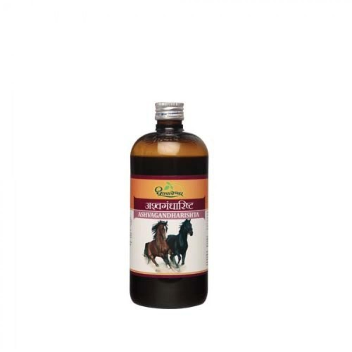 Dhootapapeshwar Ashwagandharishta (450ml) : Herbal Ayurvedic Tonic for Weakness, Nervous Debility, Sleeplessness, Improves Memory