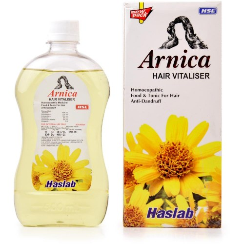 Haslab Arnica Hair Vitalizer (450ml) : Useful in Dry Scalp, Dandruff, Split Hair, Premature Greying,Hairfall