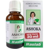 Haslab Ashoka Elixir Drops (30ml) : Relieves Uterine Complaints, regulates menses, pain during menses